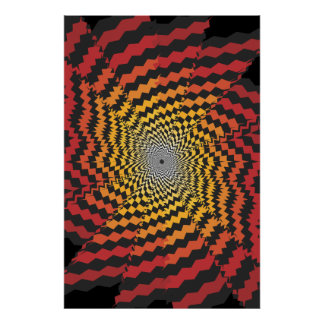Trippy Poster: Psychedelic Spiral Artwork Poster