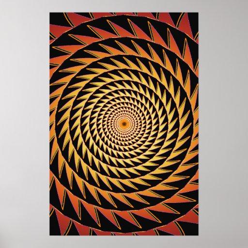 Trippy Poster: Sawtooth Spiral