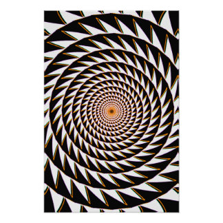 Trippy Poster: Sawtooth Spiral Poster
