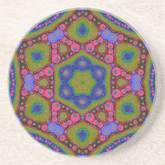 Trippy Psychedelic Abstract Coaster