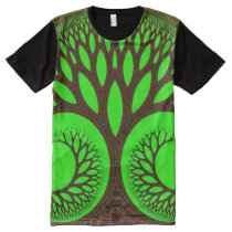 Trippy Psychedelic Abstract Fine Fractal All-Over Print T-shirt