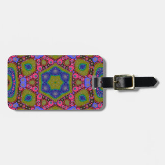 Trippy Psychedelic Abstract Tag For Luggage