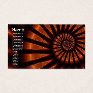 Trippy Psychedelic Backlighting Fine Fractal Business Card