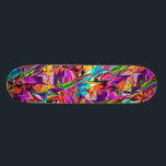 """Trippy Psychedelic Multicolor Swirls Skate Deck<br><div class=""""desc"""">Unique trippy psychedelic skate design. Looks really cool and makes an awesome gift. Ride with style!</div>"""