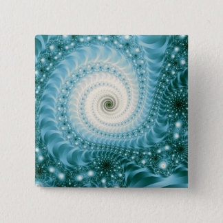 Trippy Psychedelic Starstorm Fine Fractal Pinback Button