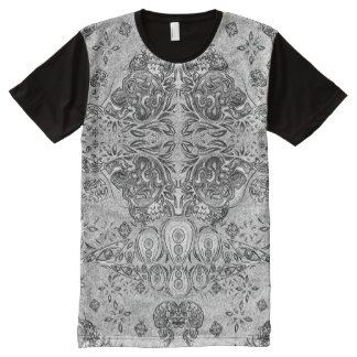 Trippy Psychedelic Surreal Graphic Pen Effect All-Over Print T-shirt