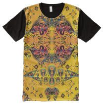 Trippy Psychedelic Surreal Skull All-Over-Print Shirt