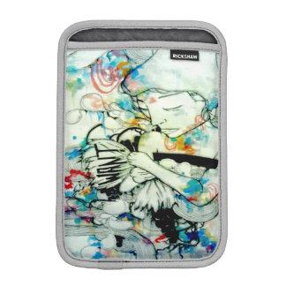 Trippy psychedelic watercolor portrait ink art iPad mini sleeve