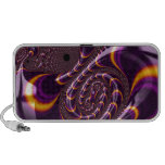 Trippy Purple,Black Fractal Twirls Art Decor PC Speakers