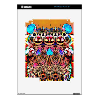 Trippy Rave Rat iPad 2 Decal