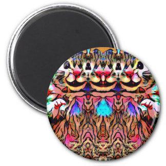 Trippy Rave Rat Magnet
