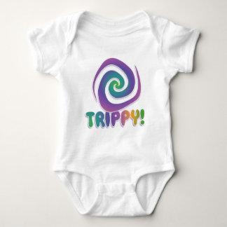¡trippy! Remolino psychadellic maravilloso 70s Body Para Bebé