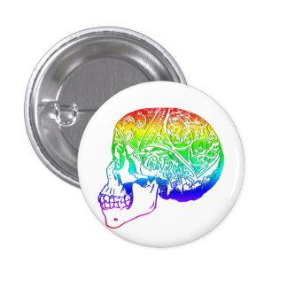 Trippy Skull Pinback Button
