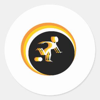 Trippy-Soccer-Guy-V2 Classic Round Sticker