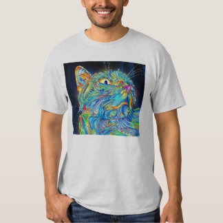 Trippy Space Cat T-shirt