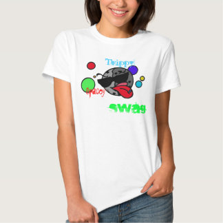 Trippy spacey swag girl tee