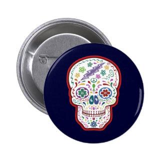 Trippy Sugar Skull Pins