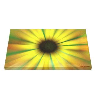 Trippy Sunflower Canvas Print