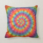 Trippy Swirl Tie Dye American MoJo Pillow