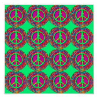 Trippy Tie-Dye Psychedelic Peace Sign