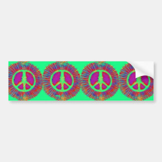 Trippy Tie-Dye Psychedelic Peace Sign Bumper Stickers