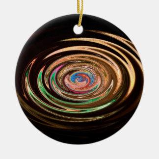 trippy train ceramic ornament