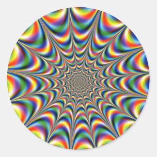 Trippy Trance Classic Round Sticker