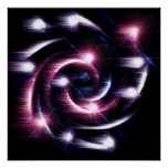 trippy twirl abstract art poster