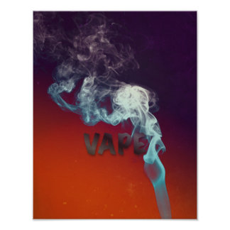 Trippy Vape Cloud Grunge Premium Poster