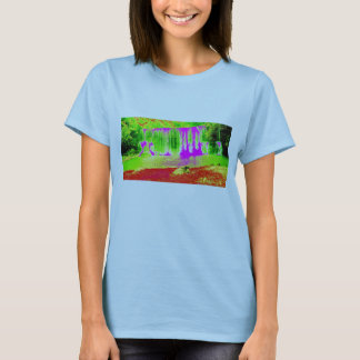 Trippy Waterfall Womens Fitted T-Shirt