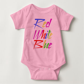 Trippy Wrong Colors - Red White Blue Baby Bodysuit