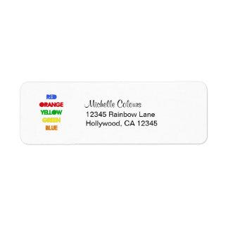 Trippy Wrong Colors Return Address Labels