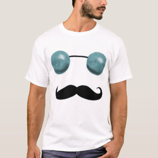 Tripster and 'Stache (Blue) T-Shirt