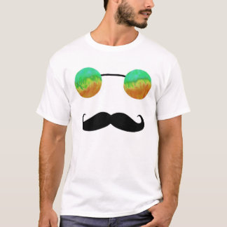 Tripster and 'Stache (Green and Orange) T-Shirt