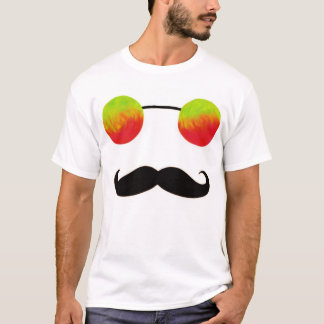 Tripster and 'Stache (Red and Yellow) T-Shirt