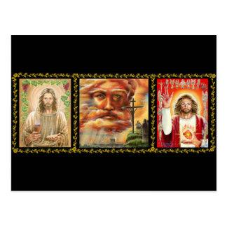 Tríptico cristiano tarjetas postales