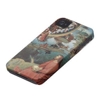 Tríptico de Hans Memling- de la boda mística Case-Mate iPhone 4 Carcasa