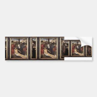 Tríptico de Hans Memling- de las rienda de Adrián Etiqueta De Parachoque