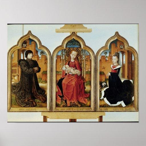 Tríptico de Jean de Witte, 1473 Poster