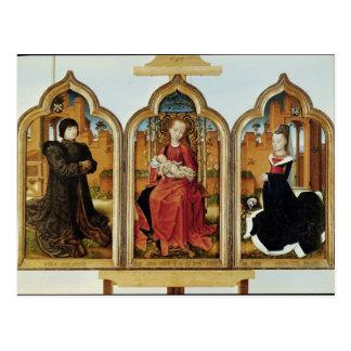 Tríptico de Jean de Witte, 1473 Postal