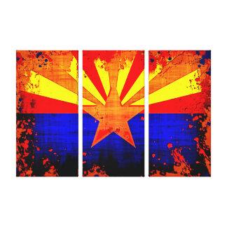 Tríptico de la bandera de Arizona Impresión De Lienzo