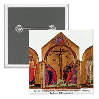 Tríptico de la crucifixión dejado: San Nicolás Pins