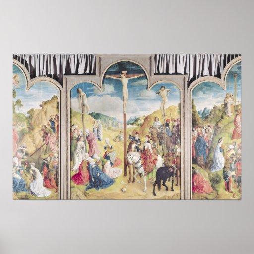 Tríptico de la crucifixión posters