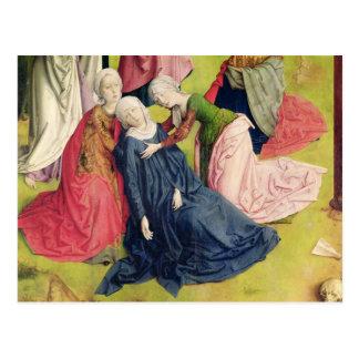Tríptico de la crucifixión tarjetas postales