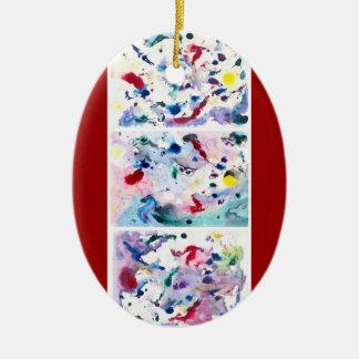 Tríptico de la fantasía ornaments para arbol de navidad