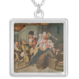 Tríptico de la tentación de St Anthony Colgantes Personalizados