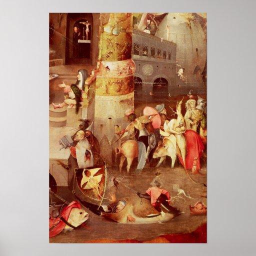 Tríptico de la tentación de St Anthony Impresiones