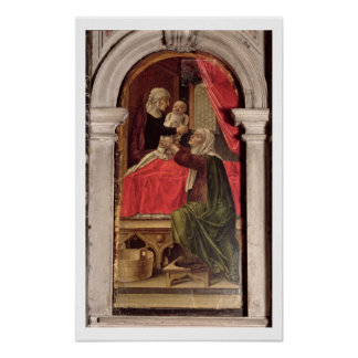 Tríptico de Madonna del Misericordia, 1473 Posters