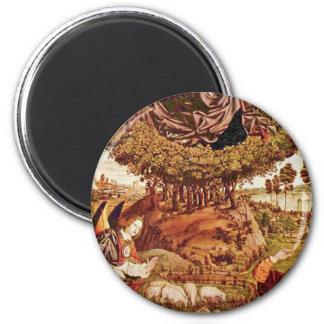 Tríptico de un panel medio de la zarza ardiente po imán para frigorífico