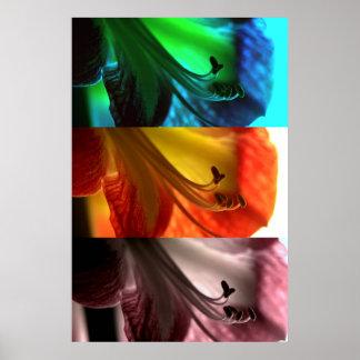 Tríptico del arte pop del Amaryllis Poster